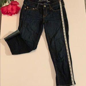 American Eagle Capri Blue Jean